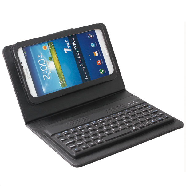 wireless bluetooth keyboard folio leather case cover for